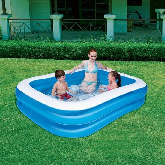 Фамилен басейн с бяла ивица 201 см BESTWAY