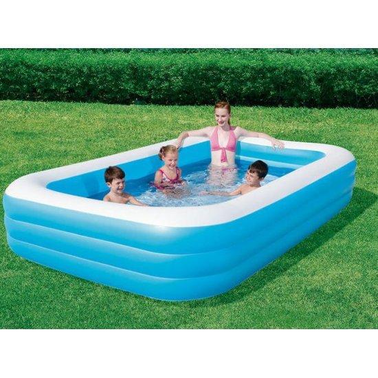 Фамилен басейн с бяла ивица Bestway
