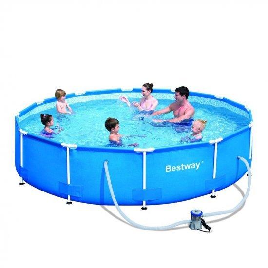 Фамилен басейн с метална рамка BESTWAY