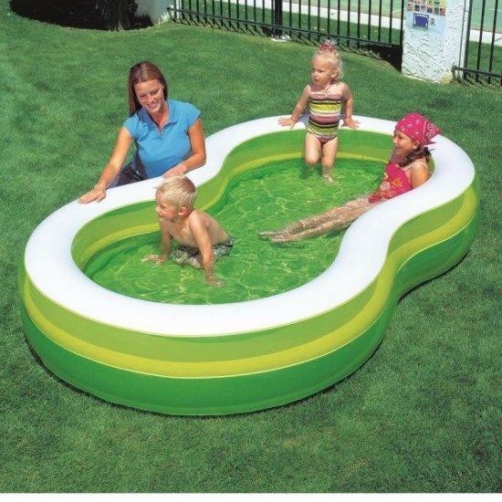 Фамилен басейн зелена лагуна  BESTWAY