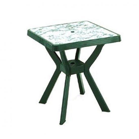 Градинска Маса Нило 80x80x72 - зелен/мрамор