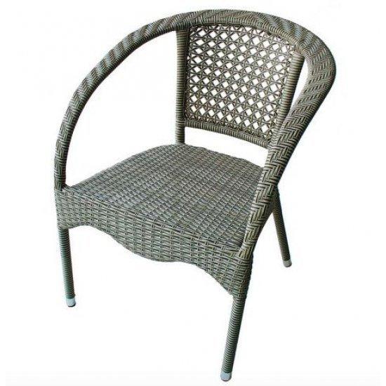 Градински стол 220 сиво/бежов ратан San Valente