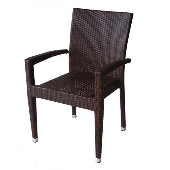 Градински стол 308 кафяв ратан San Valente