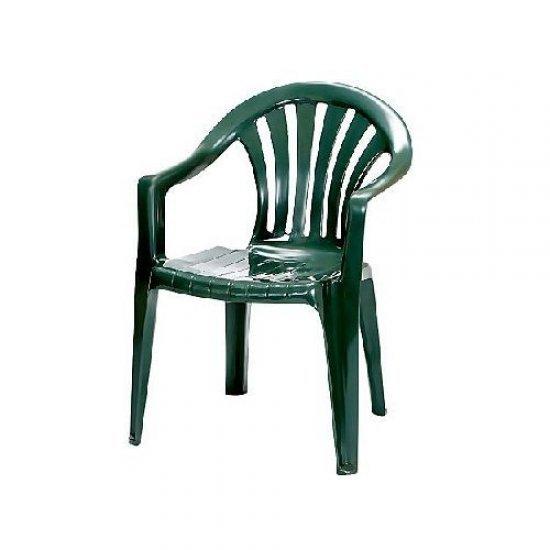 Градински стол Афродита зелен пластмаса San Valente