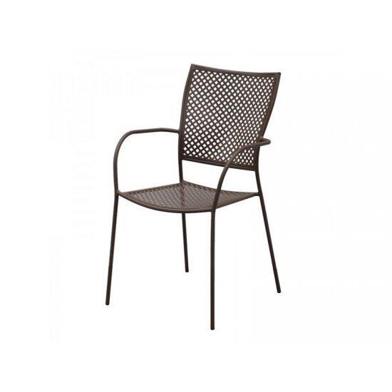 Градински стол AM-C102 кафяв метал San Valente