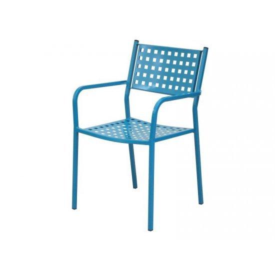 Градински стол AM C159 син метал San Valente