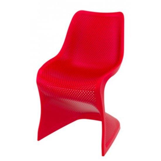 Градински стол Блум червен полипропилен с фибро стъкло Siesta