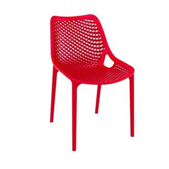 Градински стол Еър червен полипропилен с фибро стъкло Siesta