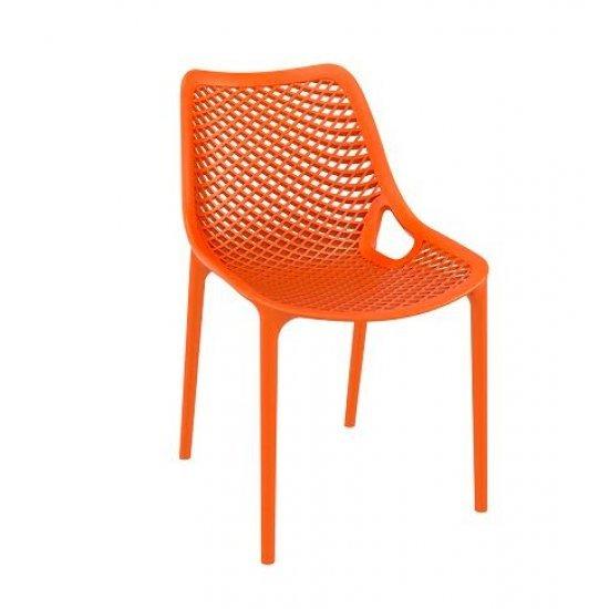 Градински стол Еър оранжев полипропилен с фибро стъкло Siesta