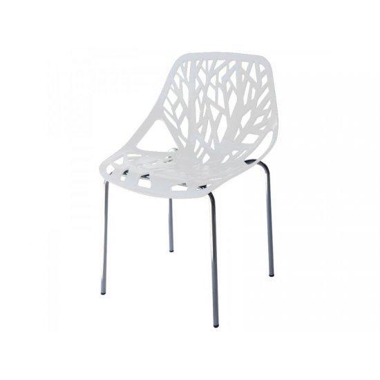 Градински стол Лимо бял полипропилен San Valente