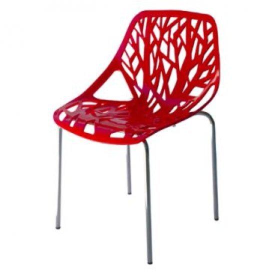 Градински стол Лимо червен полипропилен San Valente