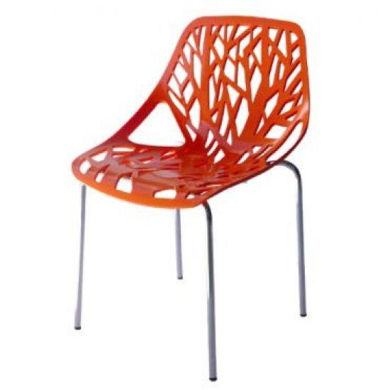 Градински стол Лимо оранжев полипропилен San Valente