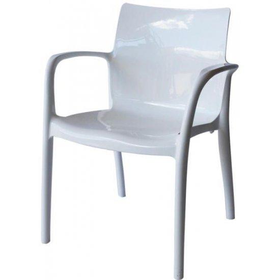 Градински стол Престиж бял полипропилен San Valente