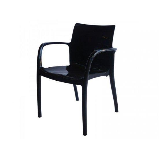 Градински стол Престиж черен полипропилен San Valente