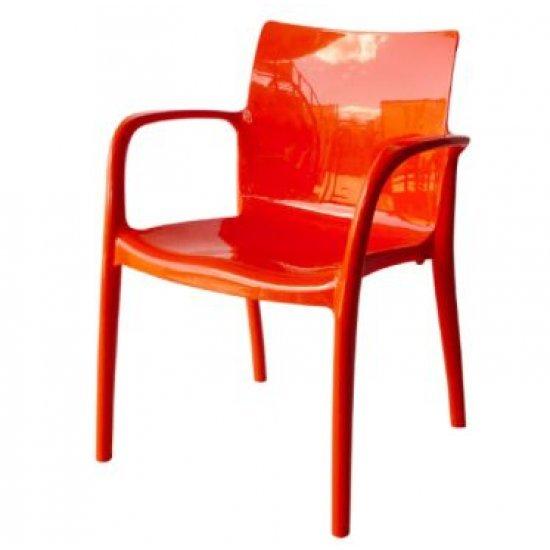 Градински стол Престиж оранжев полипропилен San Valente