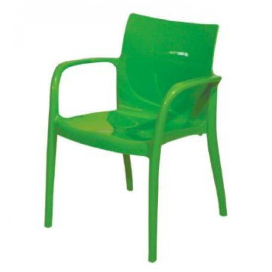 Градински стол Престиж зелен полипропилен San Valente