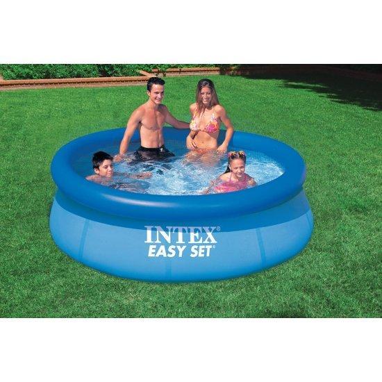 Надуваем басейн Easy Set 244х76 см 28110 Intex
