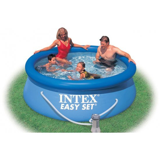 Надуваем басейн Intex Easy Set  244 см