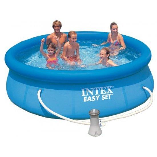 Надуваем басейн Intex Еasy Set 305 см