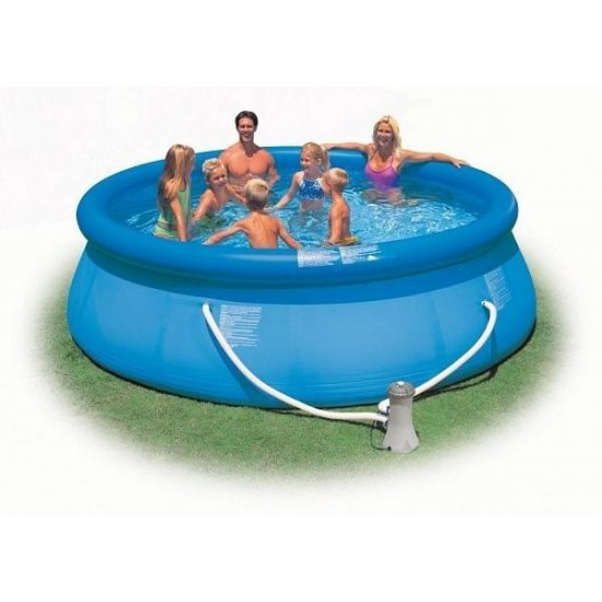 Надуваем басейн Intex Еasy Set 366 см
