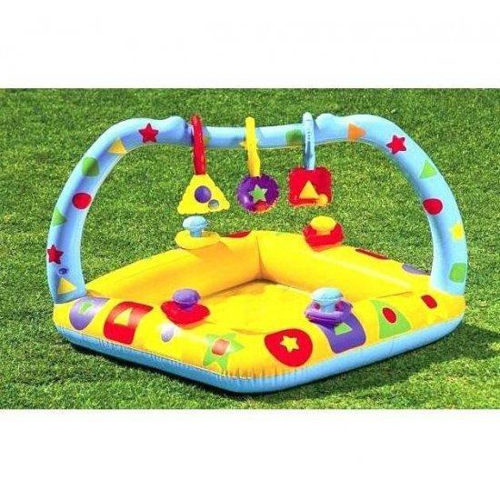Надуваем бебешки басейн Intex 91 см