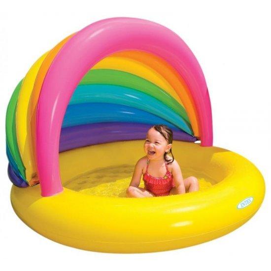 Надуваем детски басейн Дъга със сенник