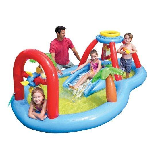 Надуваем детски център за игра Intex с воденица 295 x 193 x 107 см