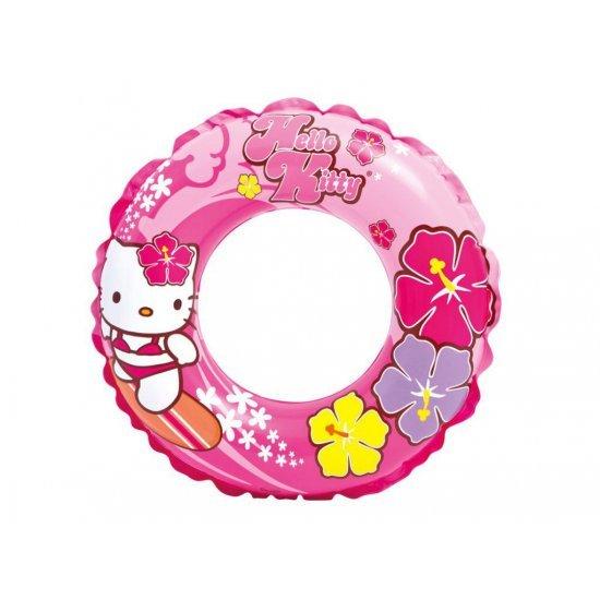 Надуваем детски пояс Intex Hello Kitty