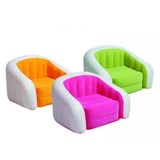 Надуваем фотьойл INTEX Cafe Club, асортимент