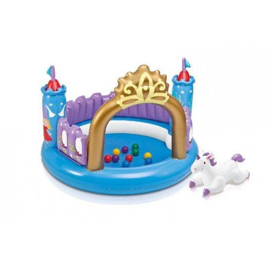 Надуваем вълшебен замък с топки 130х92см 48669NP INTEX