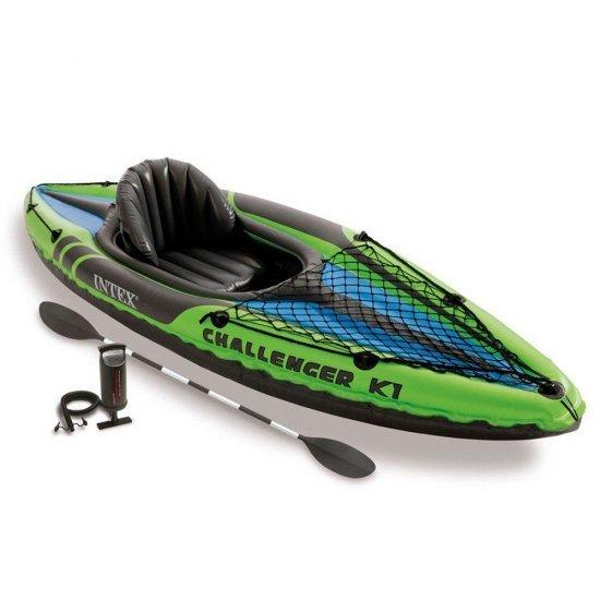 Надуваема лодка каяк Intex Challenger K1 274 x 76 x 38 см