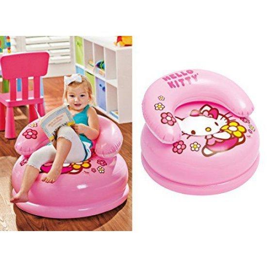 Надуваемо столче с облегалка Hello Kitty 66х40см 48508NP Intex