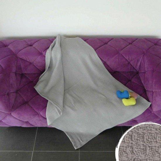 Одеяло Вафел 200/220 - Сив
