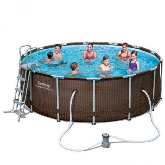 Сглобяем басейн с помпа 427x107см 56647 Bestway