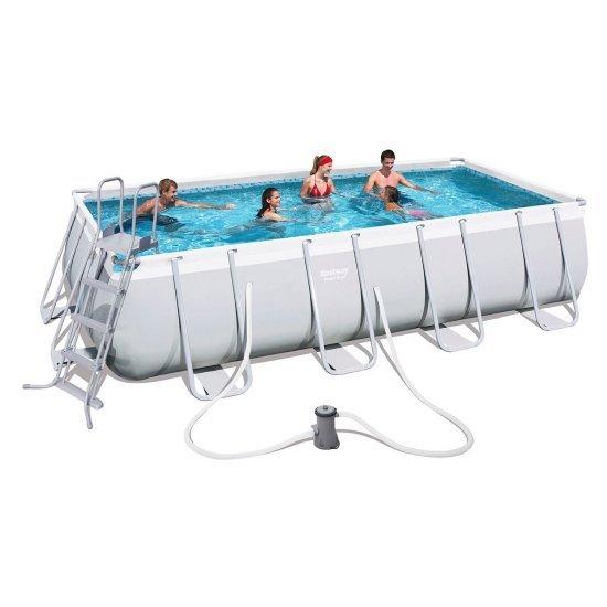 Сглобяем басейн с помпа, покривало и стълба 488x274x122см 56481 Bestway